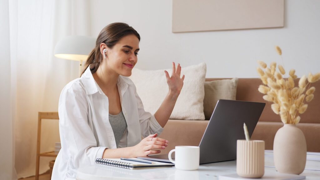 italki白人女性のオンライン講師